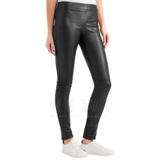Joseph Soft Black Leather  Leggings