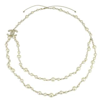 Chanel classic double strand  multi sized baroque pearl necklace