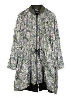 Christopher Raeburn floral print long zip front parka coat