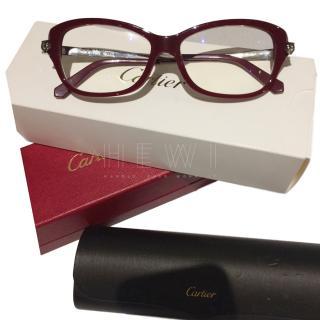 Cartier Burgundy Glasses