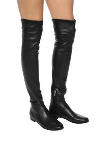 Jimmy Choo Black Leather OTK Boots