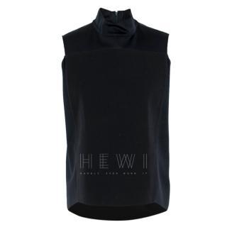 Phillip Lim Black High Neck Vest Top