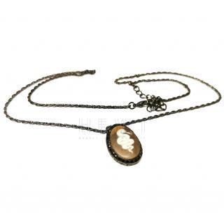 Amedeosardonix shell cameo necklace