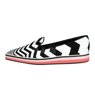 Nicholas Kirkwood zig zag slip on shoes