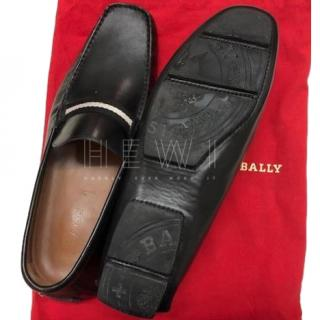 Bally Mens Black Stitch Detail Loafers