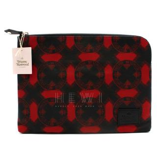 Vivienne Westwood Red & Black Printed Laptop Case