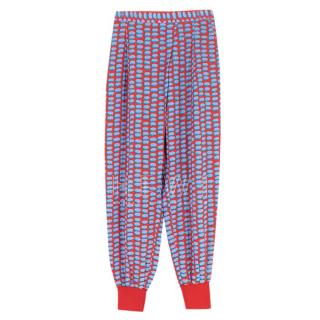 Stella McCartney Printed Silk Crepe De Chine Trousers