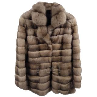 Bespoke Natural Russian Sable Fur Coat