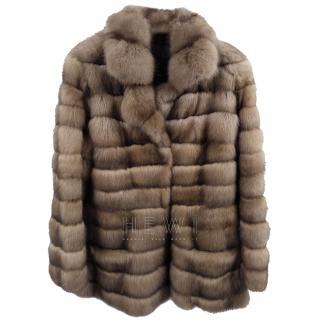 Bespoke Natural Russian Sable Fur Coat