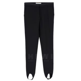 Stella McCartney Black Stirrup Leg Trousers
