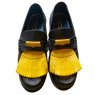 Burberry Yellow Fringed Men's Brogues