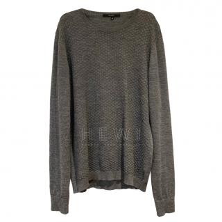 Gucci Grey V-Neck Knit Jumper