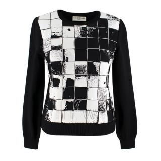 Balenciaga Black & White Checkerboard Sweater