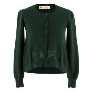 Marni Green Cashmere Cardigan