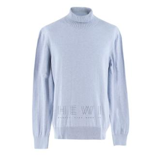 Doriani Blue Roll Neck Jumper