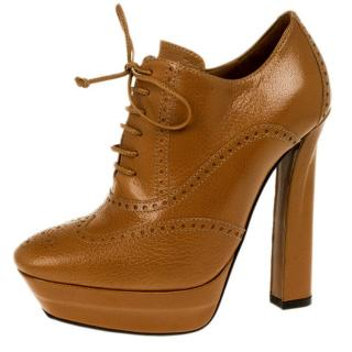 Bottega Veneta Tan Lace-Up Ankle Boots