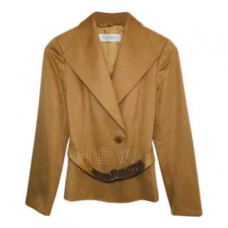 Max Mara Camel Hair Belted Short Jacket