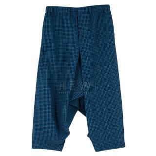 Issey Miyake Men's Dropped Crotch Check Trousers