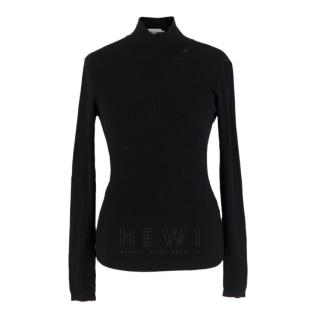 Ernest Leoty Black Ribbed Turtle Neck
