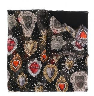 Dolce & Gabbana sacred heart print silk shawl