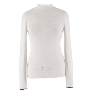 Ernest Leoty White Turtle Neck Jumper