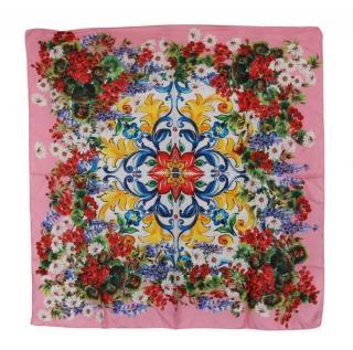 Dolce & Gabbana pink floral wrap scarf