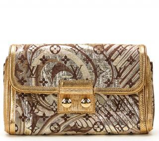 Louis Vuitton Brocade Monogram Lizard Trim Thalie Bag