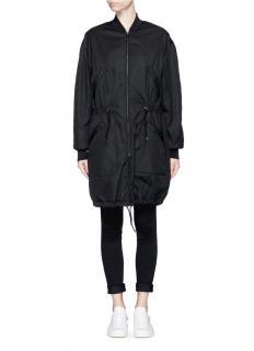 Isabel Marant Adam Black Longline Bomber Jacket
