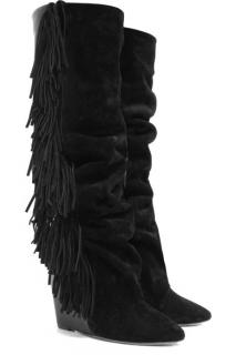 Isabel Marant manly fringed runway boots