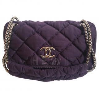 Chanel Purple Medium Bubble Quilt Flap Bag
