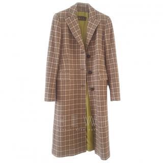 Loro Piana Virgin Wool & Cashmere Tartan Coat