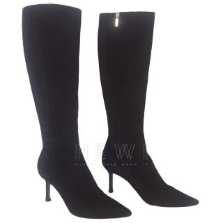 Sergio Rossi Black Suede Tall Boots