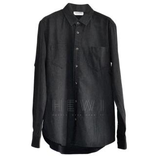 Saint Laurent Black Button Front Shirt
