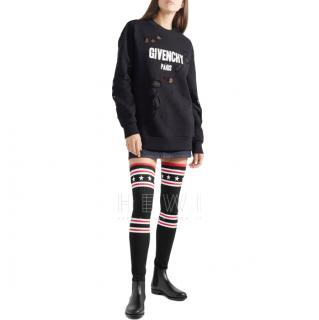 Givenchy Storm rubber and ribbed-knit thigh sock boots