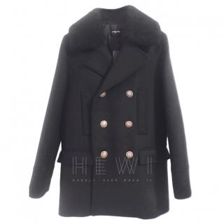 The Kooples Men's Black Redding Coat