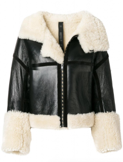 Petar Petrov Shearling-lined Biker Jacket - New Season