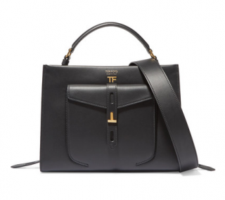 Tom Ford Hollywood Leather T Twist Small Top Handle Bag - New Season