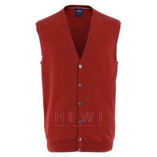Boggi Milano Red Knit Waistcoat