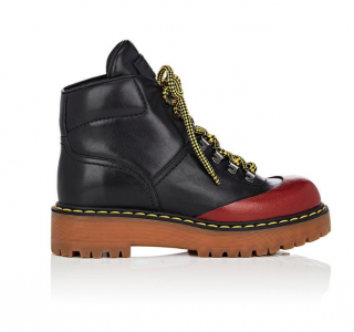 Prada Black Leather Hiker Boots - New Season
