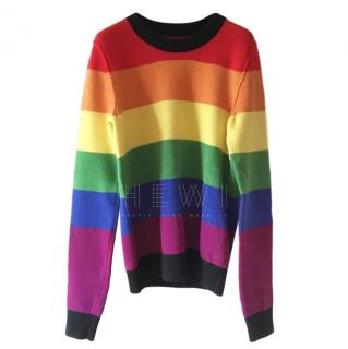 Sonia Rykiel Cashmere Blend Rainbow Poor Boy Sweater