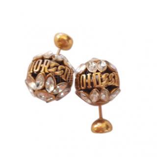 Dior (r)evolution crystal stud earrings
