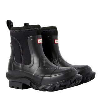 Stella McCartney x Hunter Black Rubber Rain Boots