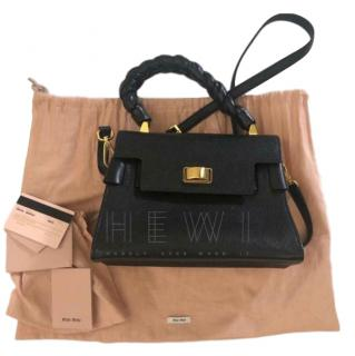 Miu Miu Black Madras Leather Handbag