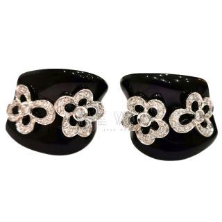 Bespoke Onyx & Diamond White Gold Earrings