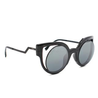 Fendi Black Paradeyes Cat Eye Sunglasses