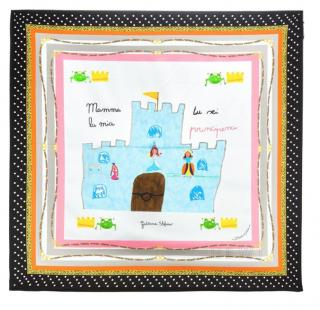 Dolce & Gabbana Children's Drawing Silk Scarf