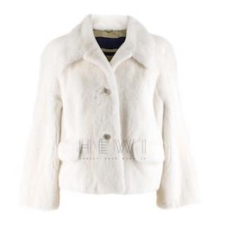 Sonia Rykiel Mink Fur Tailored Jacket