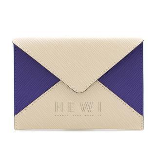 Louis Vuitton Purple & Cream Epi Leather Envelope Pouch