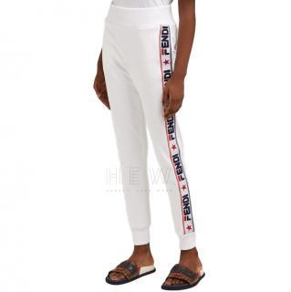 Fendi Logomania White Track Pants