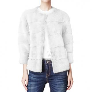 Lilly e Violetta White Mink Fur Jacket